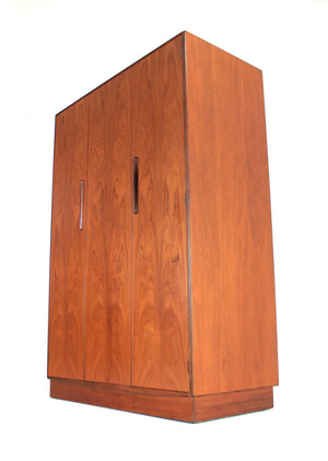MID CENTURY TRIPLE ARMOIRE BY VB WILKINS FOR G PLAN