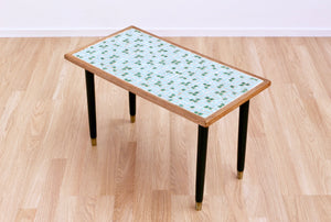 MID CENTURY ATOMIC MOSAIC TILE SIDE TABLE