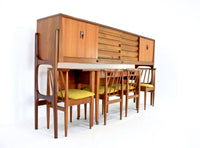 MID CENTURY CREDENZA/DINING SET BY ELLIOTS OF NEWBURY