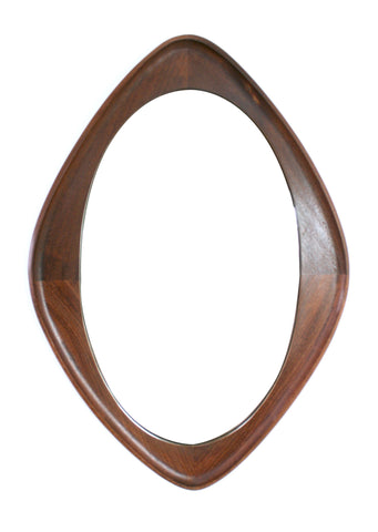 MID CENTURY DANISH OVAL MIRROR