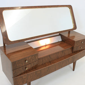 MID CENTURY FORMICA VANITY WITH LIGHT 1950s