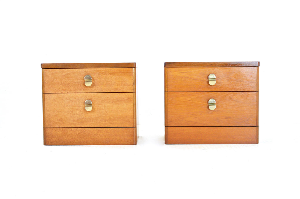 MID CENTURY NIGHT STANDS BY STAG OF NOTTINGHAM - FREE SHIPPING