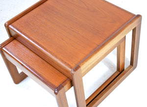 MID CENTURY TEAK NEST OF TABLES - FREE SHIPPING