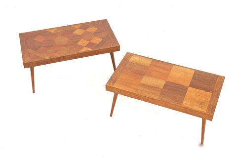 MID CENTURY MODERN MARQUETRY COFFE/SIDE TABLES  - FREE SHIPPING