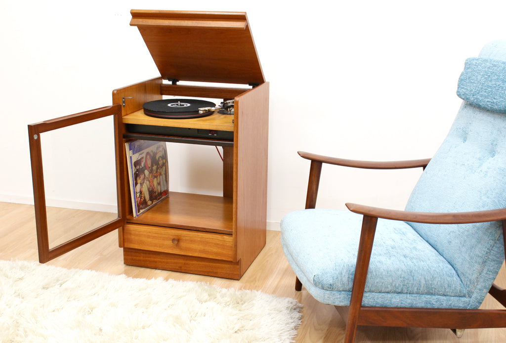 MID CENTURY HIFI RECORD CABINET BY NATHAN FURNITURE