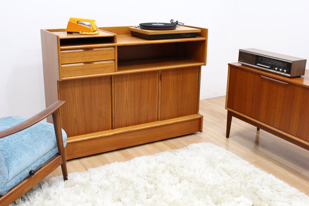 MID CENTURY HIFI RECORD CABINET BY TURNIDGE OF LONDON