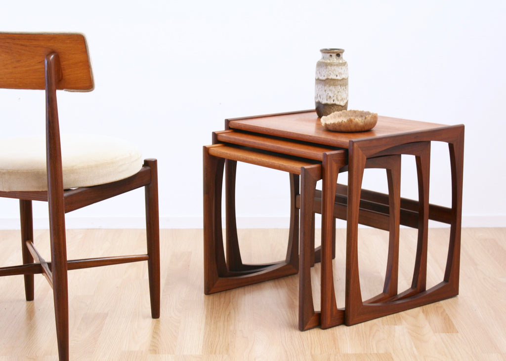 MID CENTURY QUADRILLE NEST OF TABLES BY G PLAN