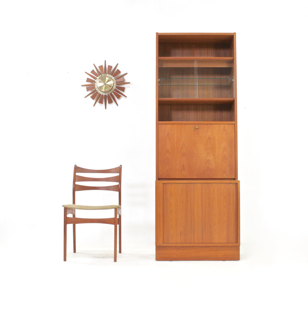 Mid Century Tambour Door Display Case by Poul Hundevad