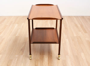 MID CENTURY TEAK BAR CART BY REMPLOY