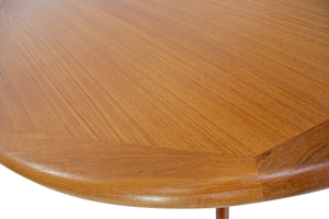 Mid Century Dining Table by Lourits M Larsen Mobelfabrik