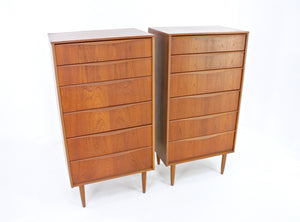PAIR OF MID CENTURY FULL PROFILE DRESSERS BY AUSTINSUITE