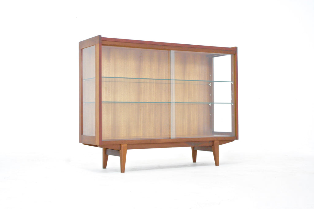 Mid Century Teak And Glass Display Cabinet