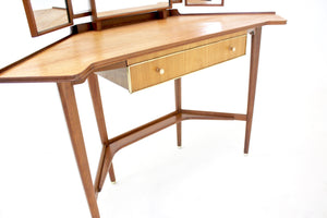 Mid Century Three Mirror Vanity