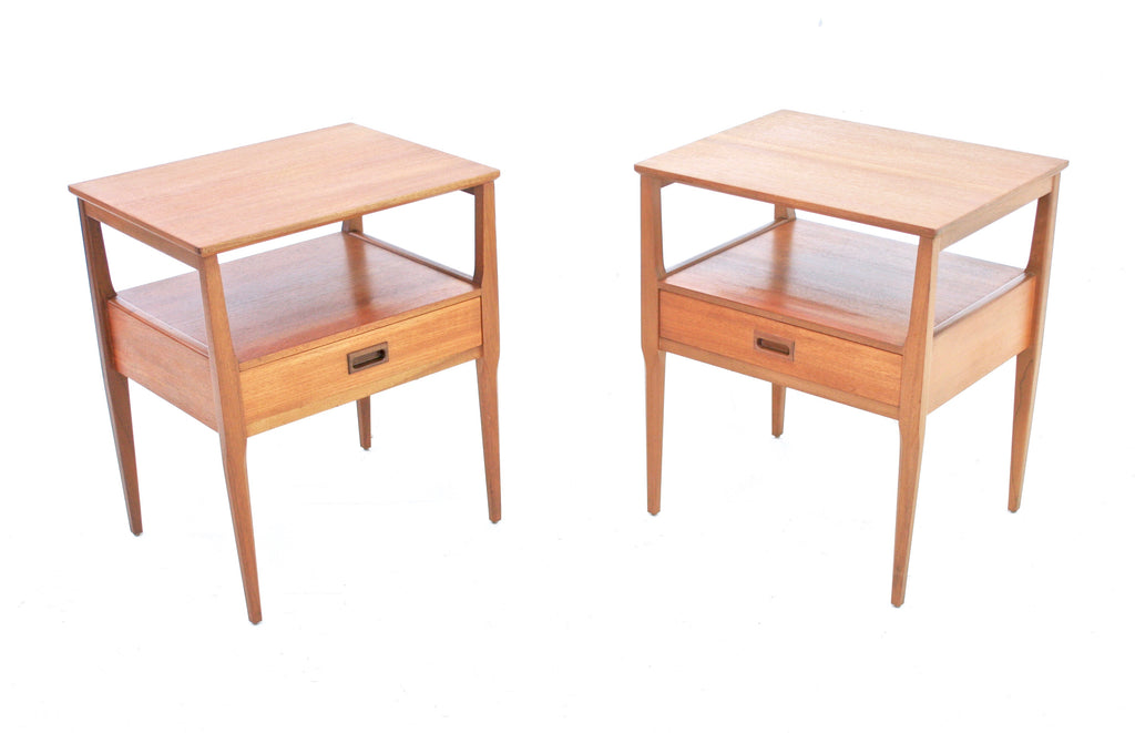 MID CENTURY NIGHT STANDS BY NATHAN   FREE SHIPPING