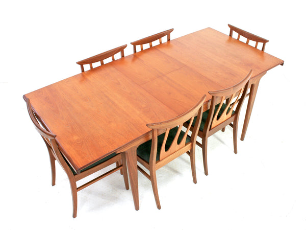 MID CENTURY DINING TABLE AND 6 CHAIRS BY G PLAN