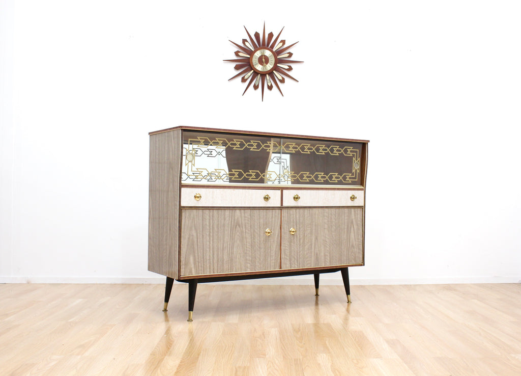MID CENTURY SPANISH ATOMIC COCKTAIL DRINKS CABINET