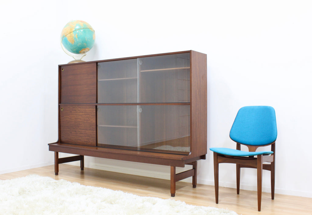 LARGE MID CENTURY CHINA DISPLAY CABINET BY E GOMME LTD