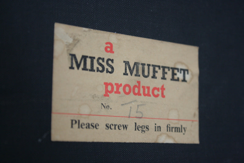 Mid Century Vanity Stool by Miss Muffet