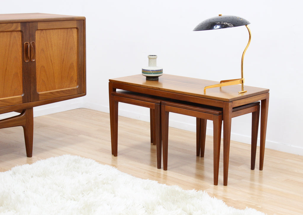MID CENTURY COFFEE NEST OF TABLES BY ELLIOTS OF NEWBURY