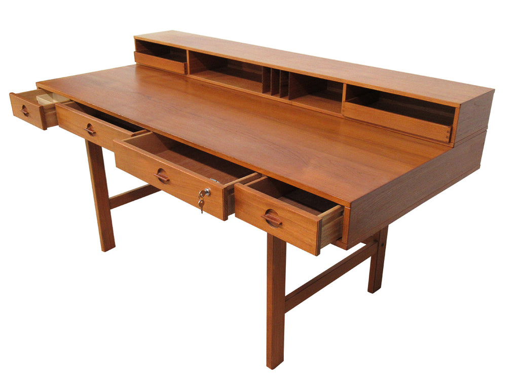 Mid Century Flip Top Desk by Peter Lovig Nielsen