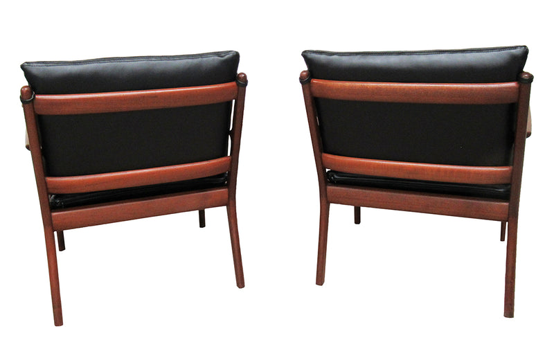 Mid Century Chairs (pair) by Ole Wanscher Denmark