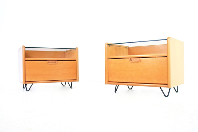 NIGHTSTANDS BY MOSER ERSTE KLASSE WOHNKOMFORT OF GERMANY