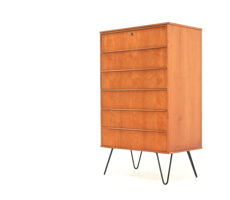 MID CENTURY DANISH MODERN FULL PROFILE TEAK CHEST