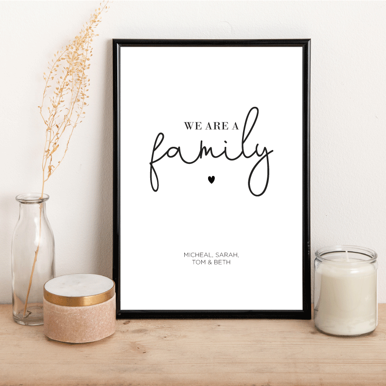 Personalised We are a family - Alotta Style - Interior Prints and Posters
