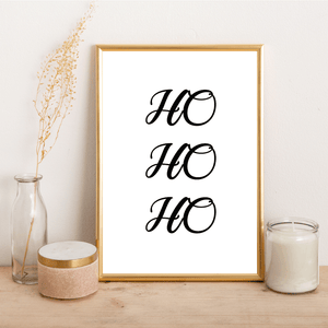 HO HO HO - Alotta Style - Interior Prints and Posters