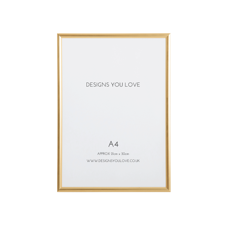 Gold A4 Picture/Poster Frame - 21cm x 29cm - Alotta Style - Interior Prints and Posters