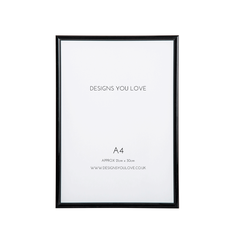 Black A4 Picture/Poster Frame - 21cm x 29cm - Alotta Style - Interior Prints and Posters