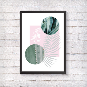 Pink and Marble Ferns - Alotta Style - Interior Prints and Posters
