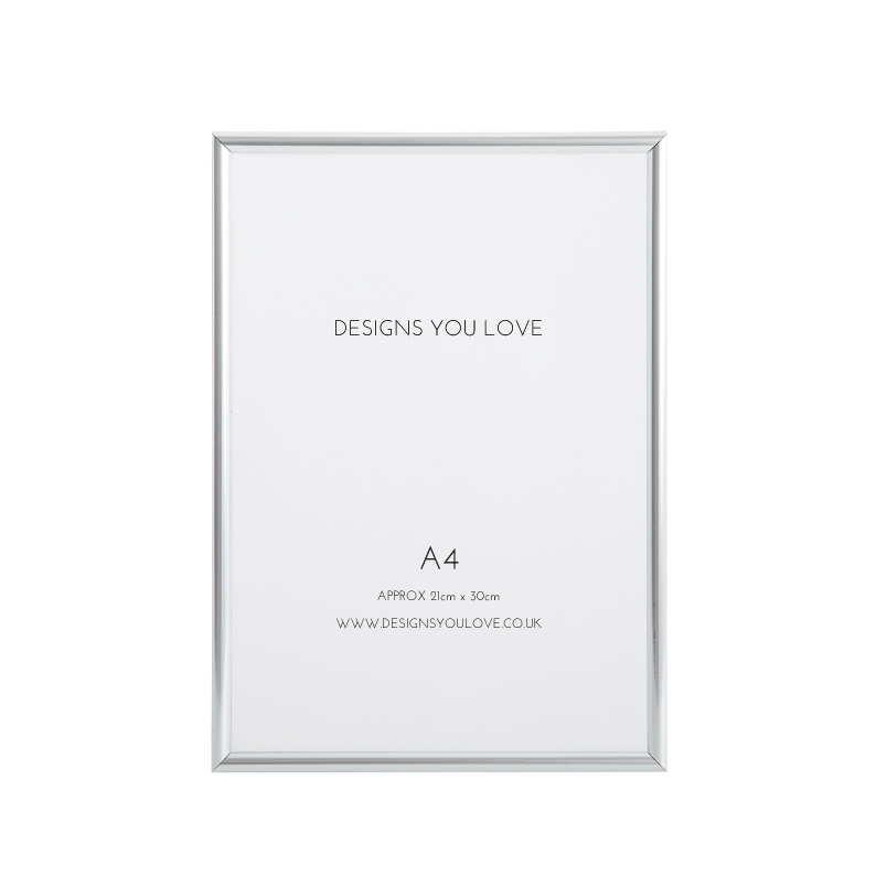 Silver A4 Picture/Poster Frame - 21cm x 29cm - Alotta Style - Interior Prints and Posters