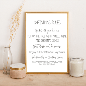 Christmas Rules - Alotta Style - Interior Prints and Posters