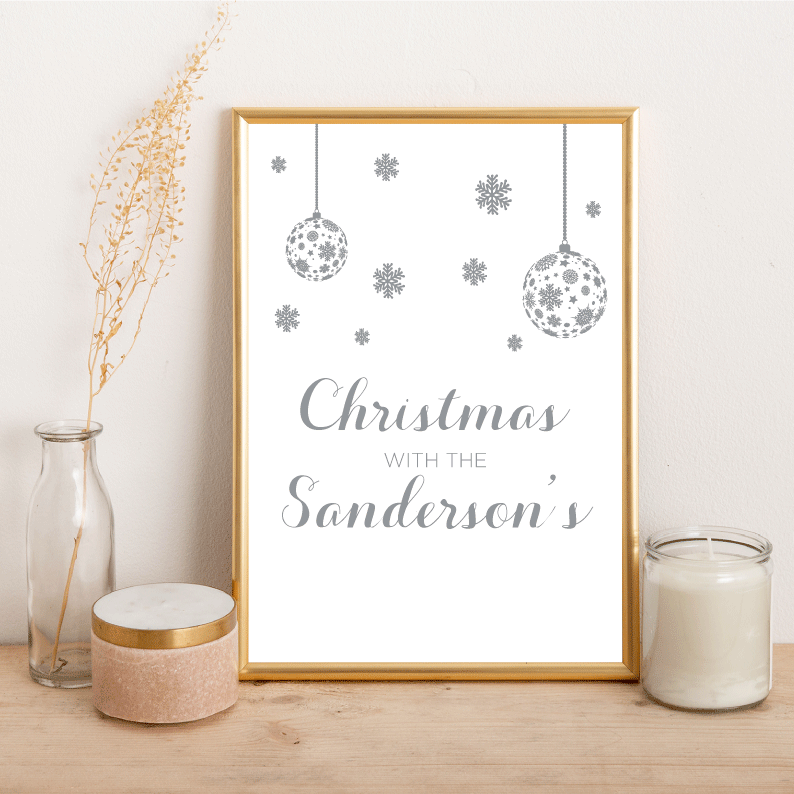 Personalised Christmas with the... - Alotta Style - Interior Prints and Posters