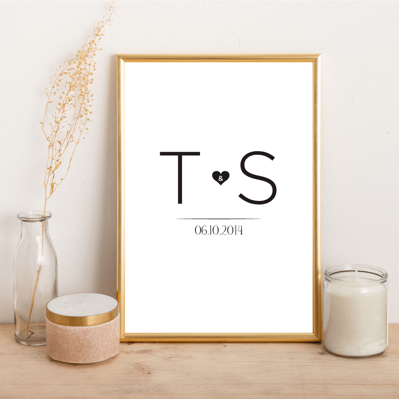 Personalised Letter Love - Alotta Style - Interior Prints and Posters