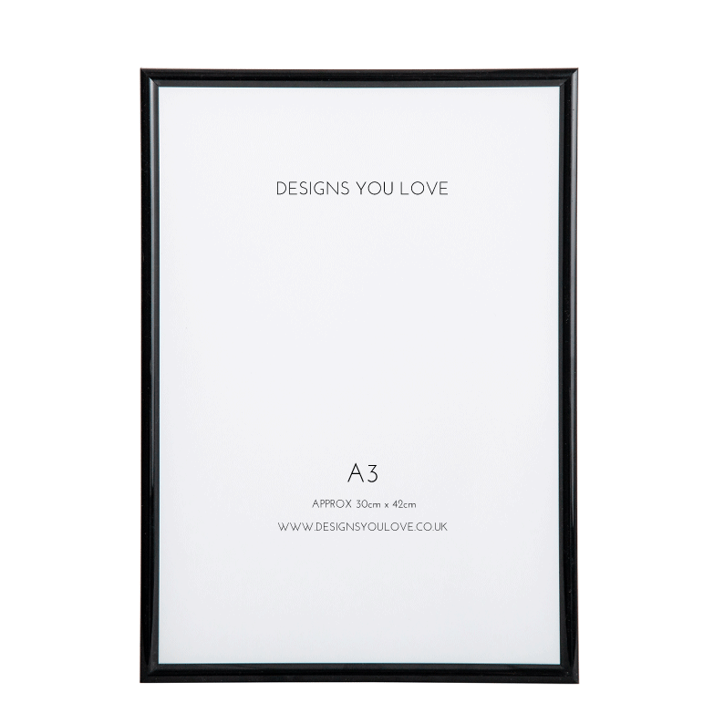 Black A3 Picture/Poster Frame - 29cm x 42cm - Alotta Style - Interior Prints and Posters
