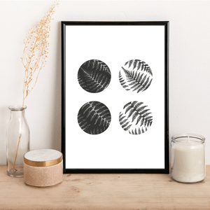 Fern Circles - Alotta Style - Interior Prints and Posters