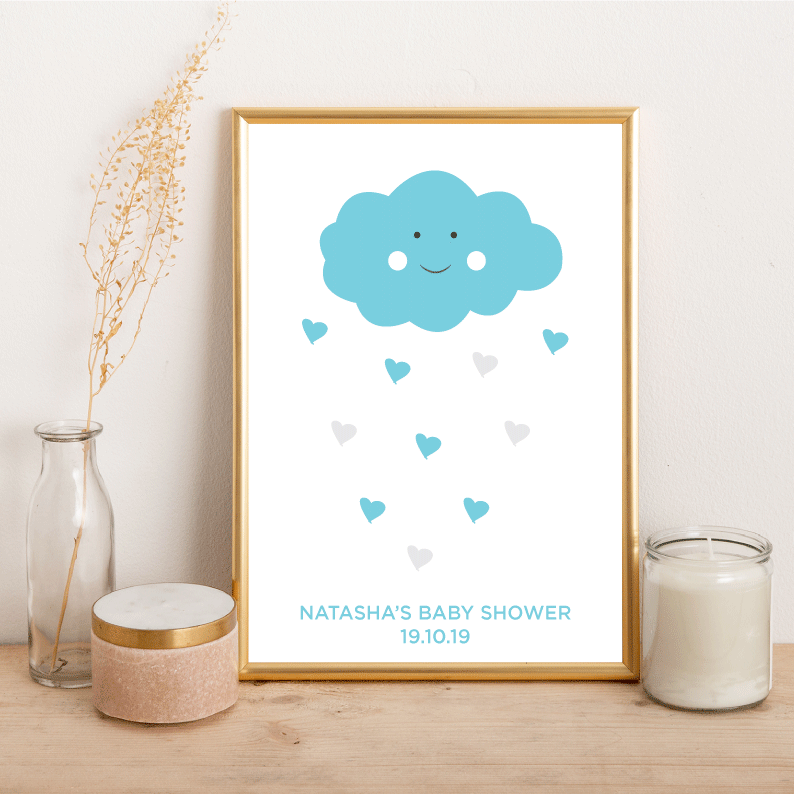 Baby Shower Sign Names - Alotta Style - Interior Prints and Posters