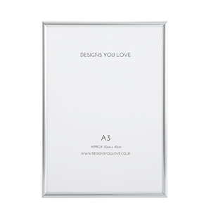 Silver A3 Picture/Poster Frame - 29cm x 42cm - Alotta Style - Interior Prints and Posters