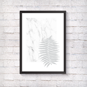 Grey Fern - Marble - Alotta Style - Interior Prints and Posters