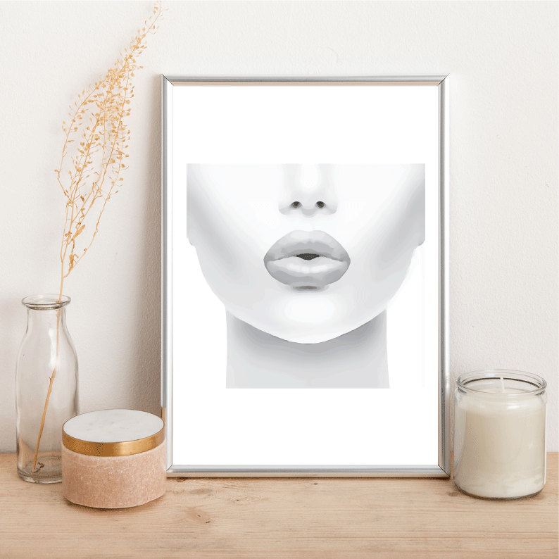 Grey Lips - Alotta Style - Interior Prints and Posters