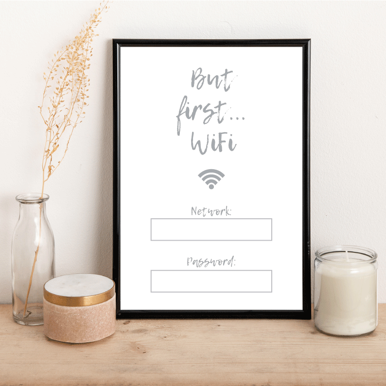 Personalised But First WiFi - Alotta Style - Interior Prints and Posters