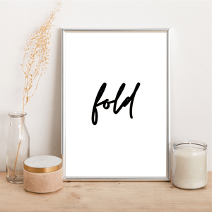 fold - Alotta Style - Interior Prints and Posters