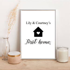 Personalised First Home - Heart House - Alotta Style - Interior Prints and Posters