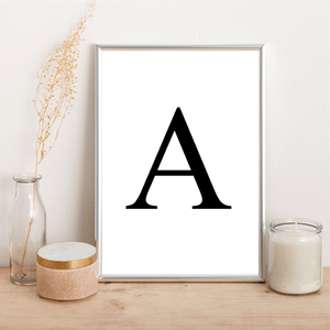 Personalised Initial - Alotta Style - Interior Prints and Posters