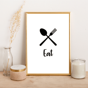 Eat Cutlery - Alotta Style - Interior Prints and Posters