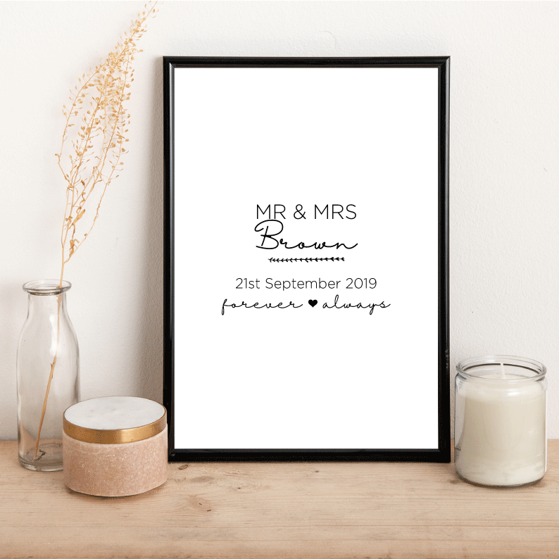 Personalised Mr & Mrs - Alotta Style - Interior Prints and Posters