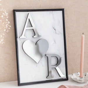 Personalised Mirror Initial Frame - Alotta Style - Interior Prints and Posters