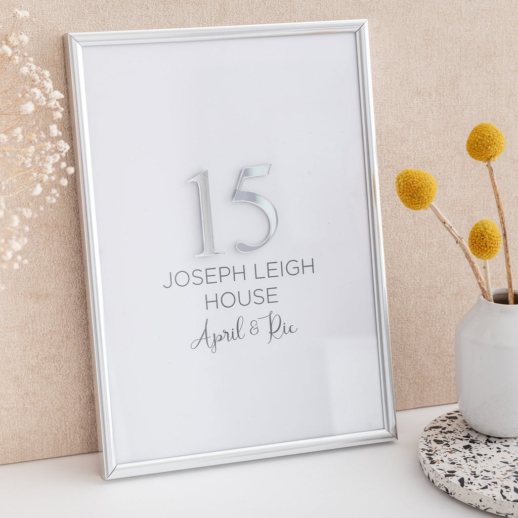 Personalised Mirror Frame - House Numbers - Alotta Style - Interior Prints and Posters